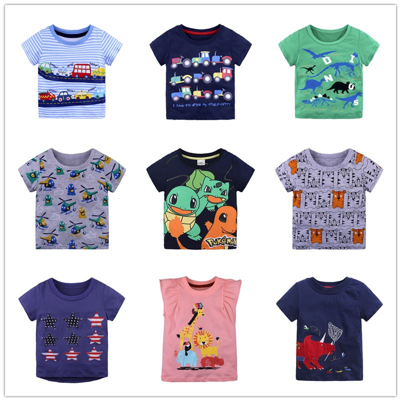 Wholesale Summer Boys Clothes Baby Cotton T-Shirt Childrens Short Sleeve T-Shirt1-6Y
