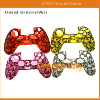 10pcs/lot New Skull Camouflage Camo Silicone Case Protection Cover Rubber Protective Skin for Playstation 4 PS4 Controller