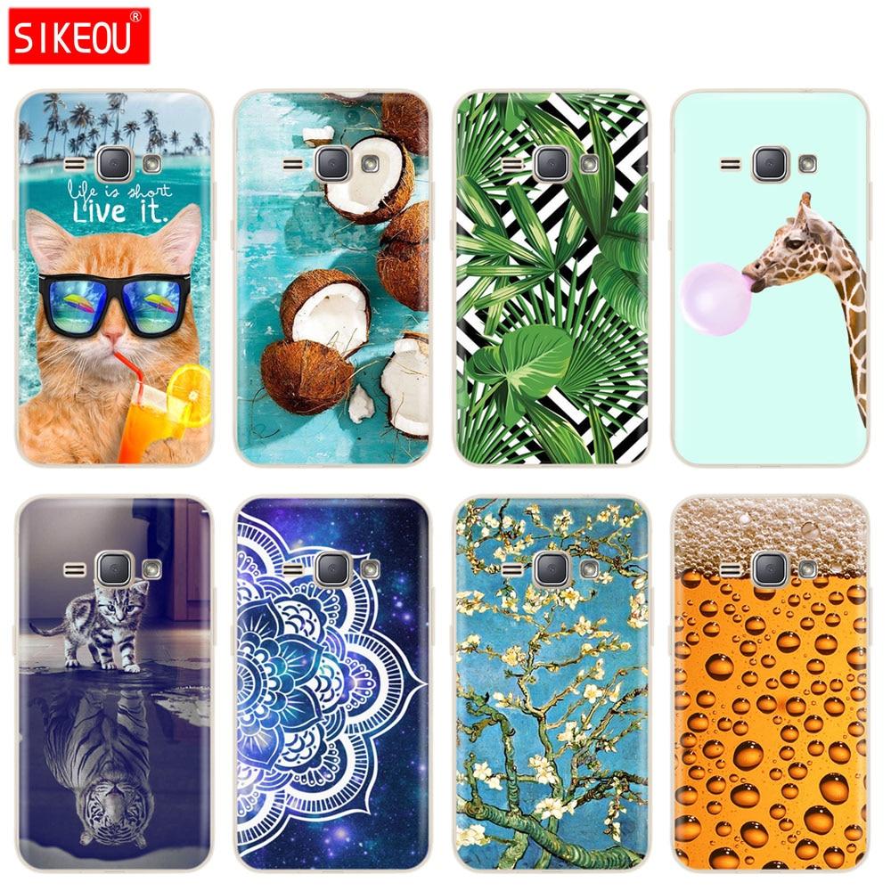 Case For Samsung Galaxy J1 2016 Case J120 J120F Cover Case For Samsung J1 2016 SM-J120F cute funny mandala silicone tpu full 360