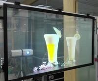 1.52 × 1メートルのクリアリアプロジェクションフィルム/ホログラフィック背面投影フィルム用ウィンドウ広告