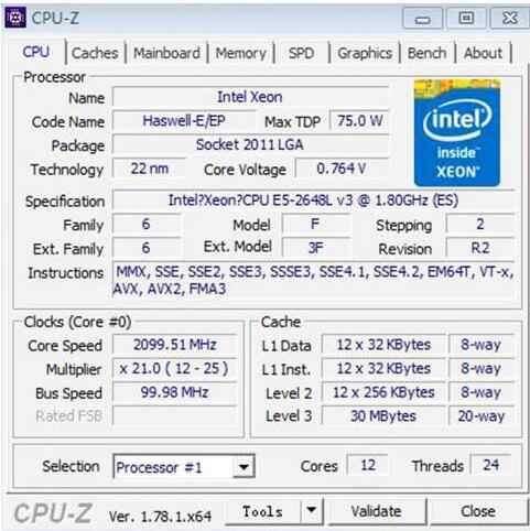 Intel Xeon CPU E5-2648LV3 QS 1.80GHz 12-Cores 30M LGA2011-3 E5-2648L V3 processor E5 2648LV3 free shipping E5 2648L V3