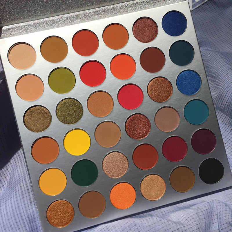 Макияж Косметическая Палетка глазированные ваши оттенки 36 цветов Палетка матовых теней Блеск долговечностью палитры теней