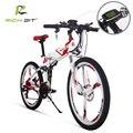 RichBit Novo 36 V * 250 W Bicicleta Elétrica da Montanha Híbrido Bicicleta Elétrica À Prova D' Água Dentro do Frame de Li-em 12.8Ah bateria ebike Dobrar