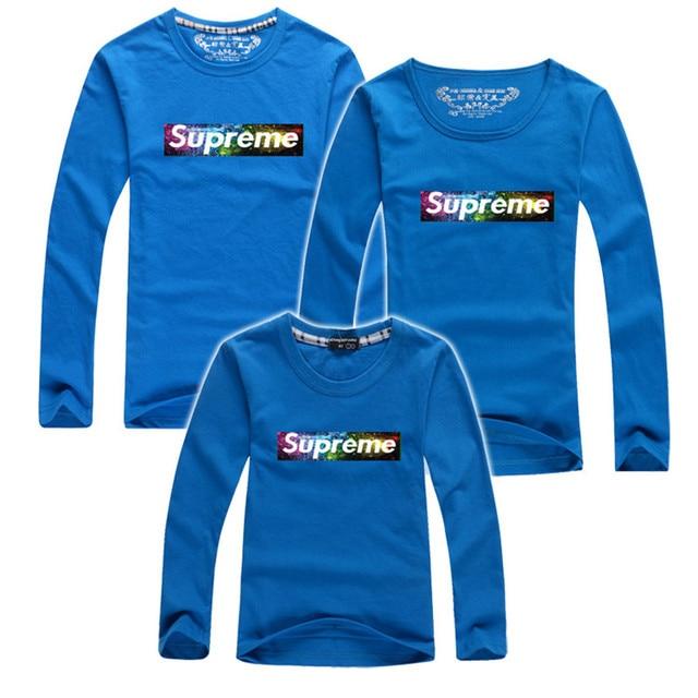 Осень длинный рукав семья t - рубашки соответствия мать дочь одежда семья одежда мать сын наряды