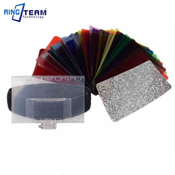 10 Sets/Lot CFA-30K 30 Colours Speedlite Color Gel Kit with Bag Barn-door Valcro Strap & Reflector for Sony Nikon Canon Lamp