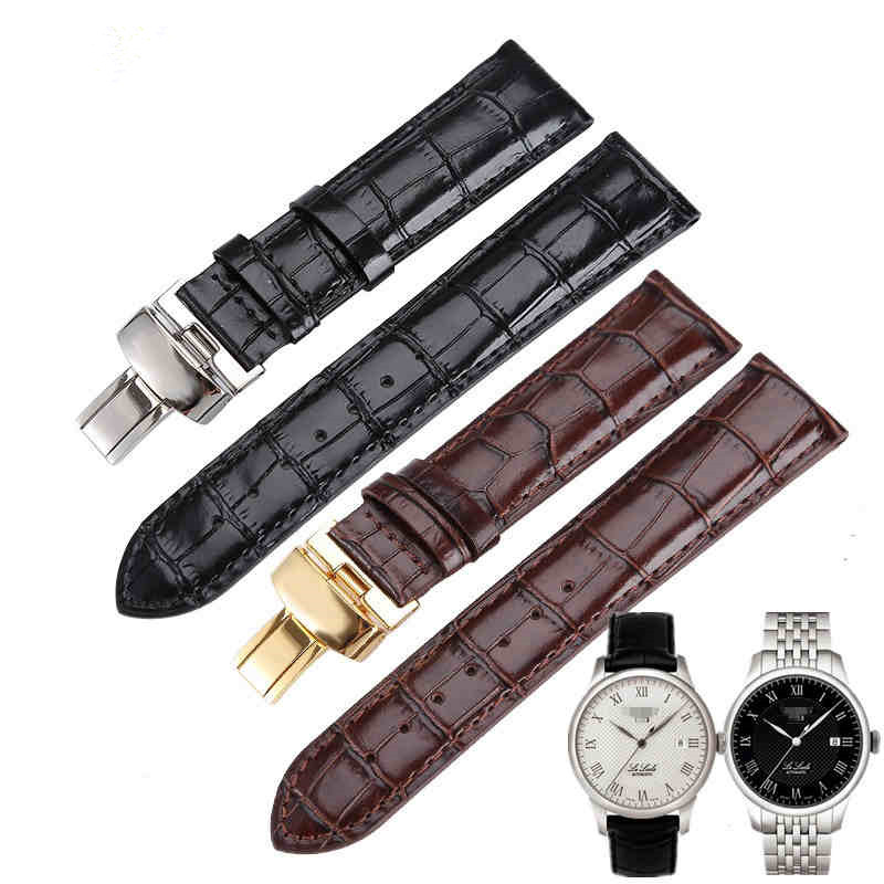 Leather Watchband Black Brown Watch accessories For Tissot 1853 Watchbands T41/T17/T065/T063 leather watchband for Tissot1920mm tissot t063 639 16 057 00