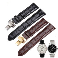 19 20mm Hot Sale Genuine Leather Watchband Black Brown Watch accessories For Tissot 1853 T41 T17