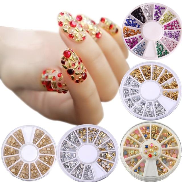 Bittb Nail Art Design Rhinestones Decorations 3d Glitter Fingernails