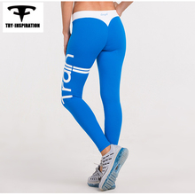 New Style Women's Running Tights Leggings Hips Push Up Letters Fitness Yoga Pants Quick Dry Elastic Training Sports Leggings
