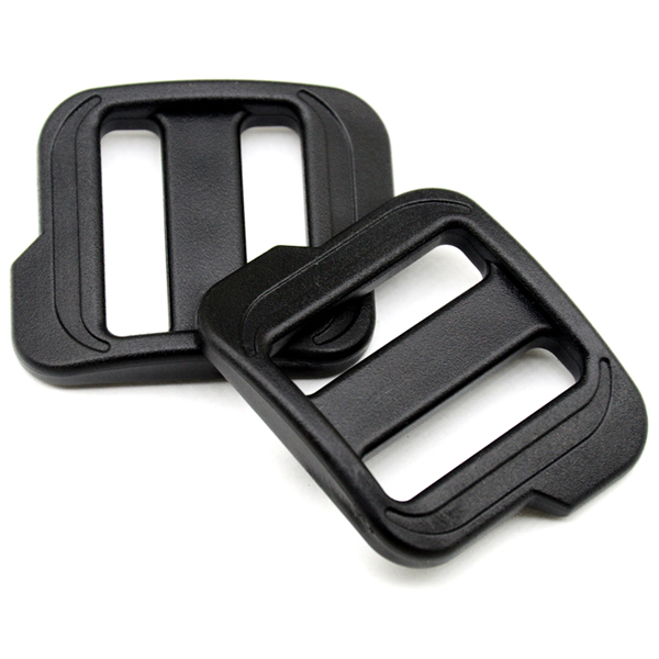 Wholesale Free shipping 15pcs 40MM POM black Camping Carabiner Tri Glide slider buckles for backpack straps webbing M0814-40