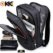 "KAKA Casual Men plecak USB Charge duża pojemność torba podróżna 15.6 ""plecak na laptopa tornister dla nastolatków mochila women back pack"