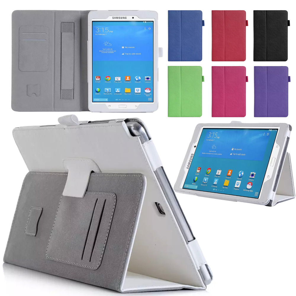For Samsung Galaxy Tab A 8.0 SM-T350 T351 Hand Strap Stand Card Slots Tablet Case Screen Protector Film Stylus Pen Free Shipping аксессуар чехол samsung galaxy tab a 7 sm t285 sm t280 it baggage мультистенд black itssgta74 1