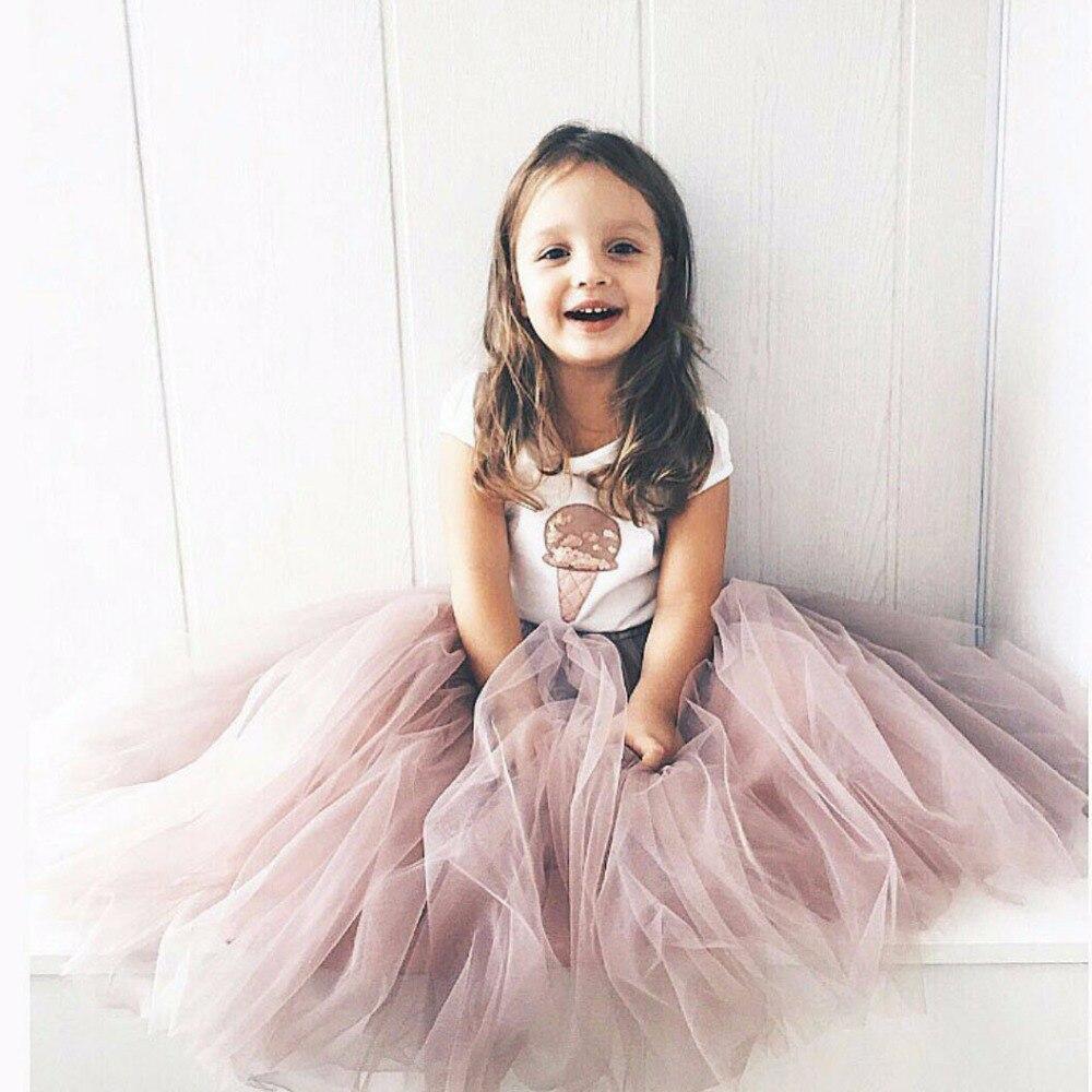 c16358eebb Falda tutú de niña de tul suave esponjosa para niños ropa de princesa regalo  de cumpleaños vestido de fiesta para niños en Faldas de Mamá y bebé en ...