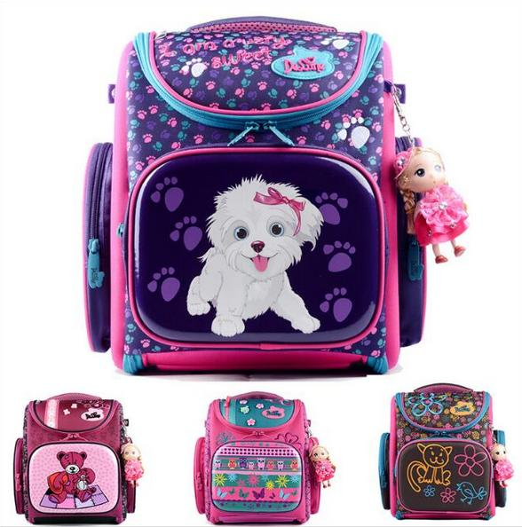 Delune Kids Backpack Kindergarten School Bags for Girls Boys Waterproof Cartoon Children Mochila Escolar Infantil Schoolbag kindergarten new kids school backpack monster winx eva folded orthopedic baby school bags for boys and girls mochila infantil