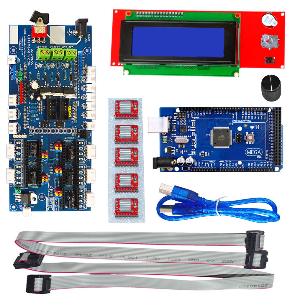 KEYES 3 D Printer kit with RAMPS 1.57 Control Board L C D 2004 Board Mega 2560 R3 A4988 Driver keyes kt0044 electronic blocks kit