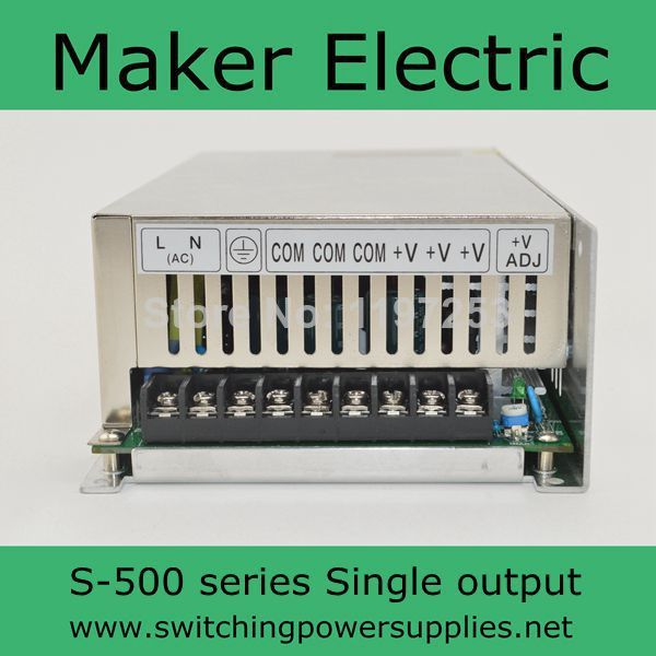 S 500 15 CE approved led power supply AC to DC 15v 32A 500w