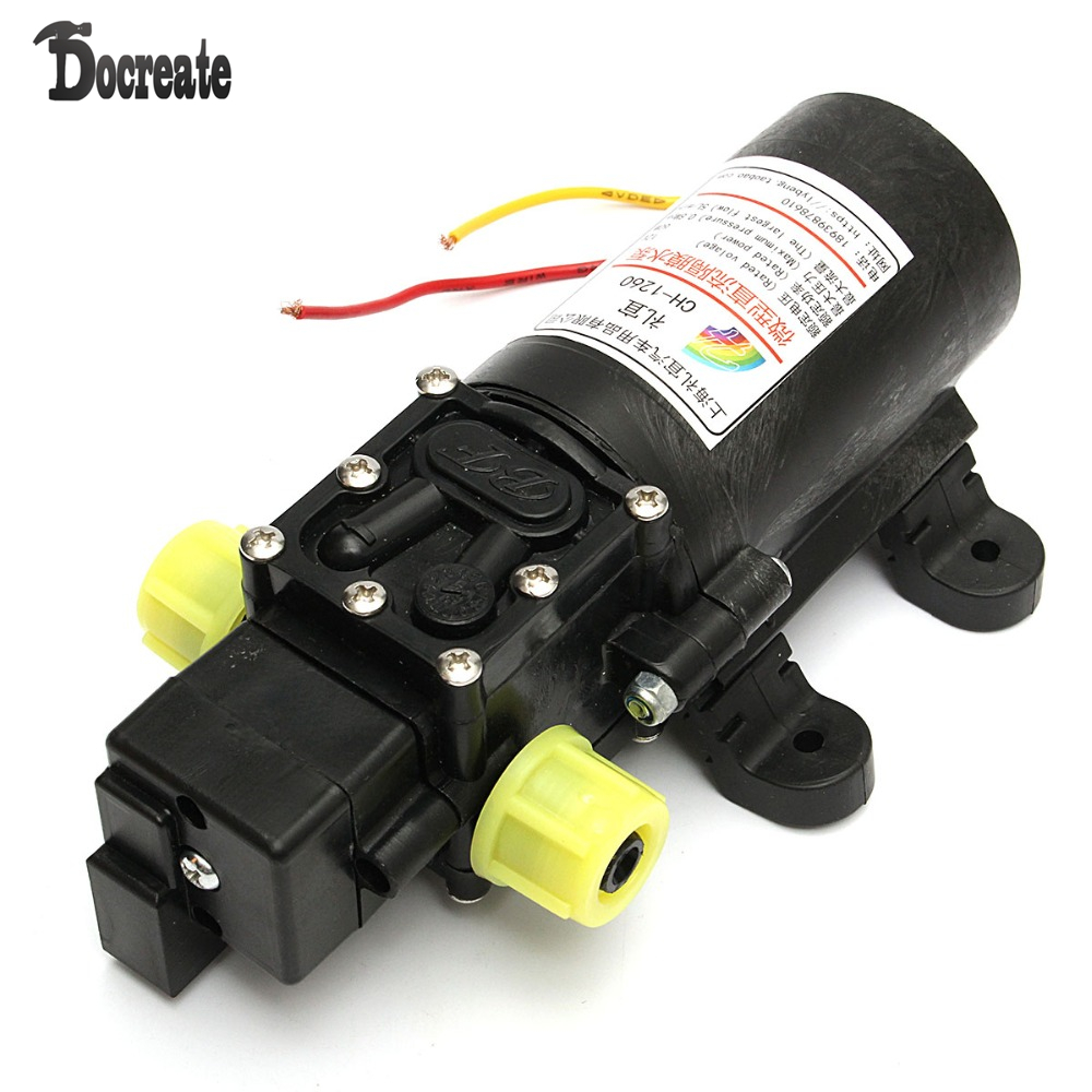 12V High Power Electric Auto Diaphragm Water Pump 5L/min 100 PSI Pressure Switch 12v dc 4l min 100psi high pressure diaphragm water pump