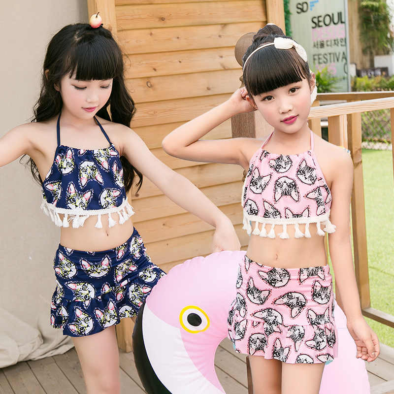 6a2ad61ad ... NEW Baby Girls Halter Bow Swimwear Swimsuit Bathing Suit Swimming  Costume Two-piece Kids Girl ...