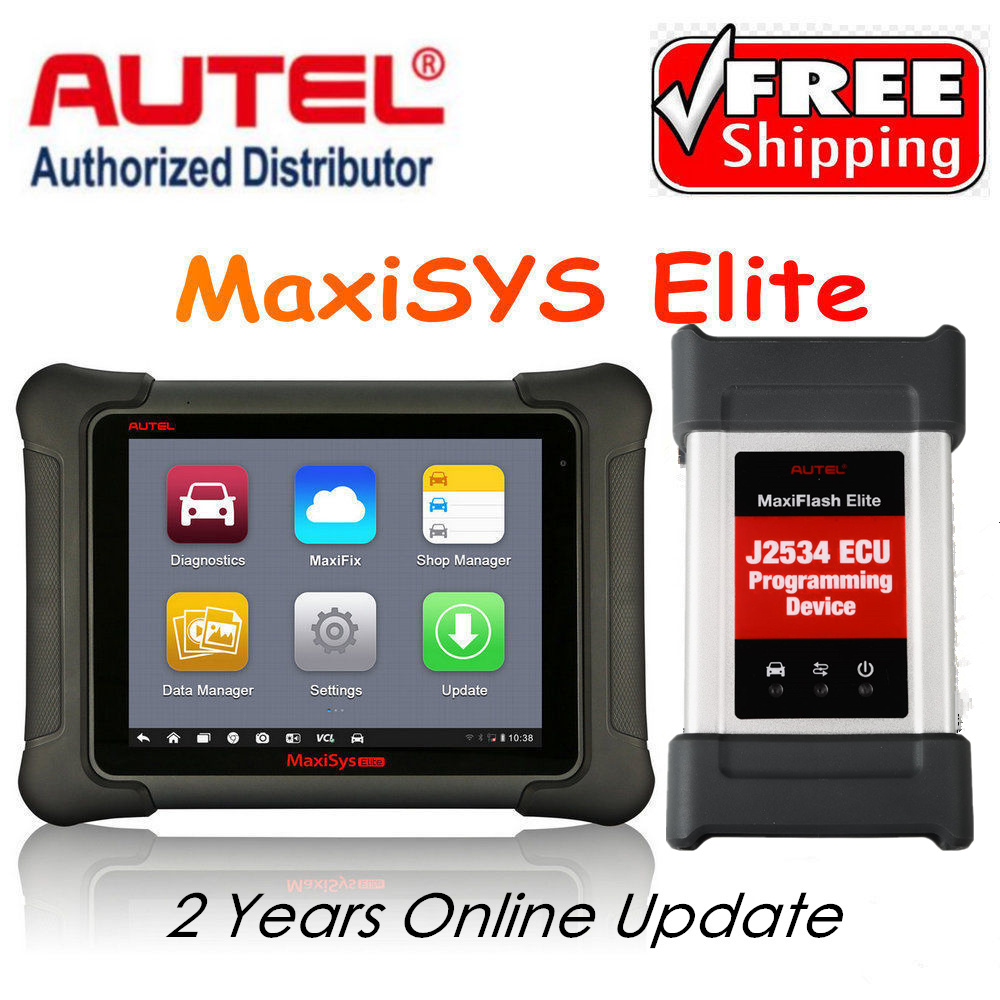 Autel Maxisys Elite Diagnostic Tool Upgraded Version of MS908P Pro with Wifi Bluetooth Full OBD2 Automotive Scanner with J2534 ...