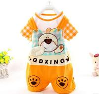 2016 Summer Baby Sets Baby Short Sleeved Suit Baby Bib Style Leotard Two Piece Clothes Wholesale
