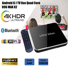 H96 max x2 Thông Minh TV BOX Android 8.1 4 gb 64 gb Amlogic S905X2 Quad Core 2.4 ghz/5 ghz WiFi BT4.0 Set top box 4 gb 32 gb phương tiện truyền thông máy nghe nhạc(China)