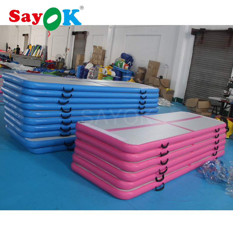 300x90x10cm Customized Inflatable Gymnastics Tumbling Mat Air Track Floor Mats Inflatable Gym Mat for sale high quality 4 1 0 2m inflatable air track gymnastics air track trampoline for water games