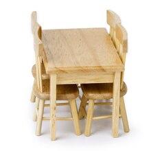 Древесины) (цвет dollhouse миниатюрные интерьера обеденный деревянная модели мебель стул стол