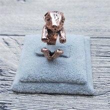 67af039316f7 Nuevo Retro Vintage Holanda conejo enano anillos clásico ajustable conejo  enano anillos joyas y bisutería conejo joyería