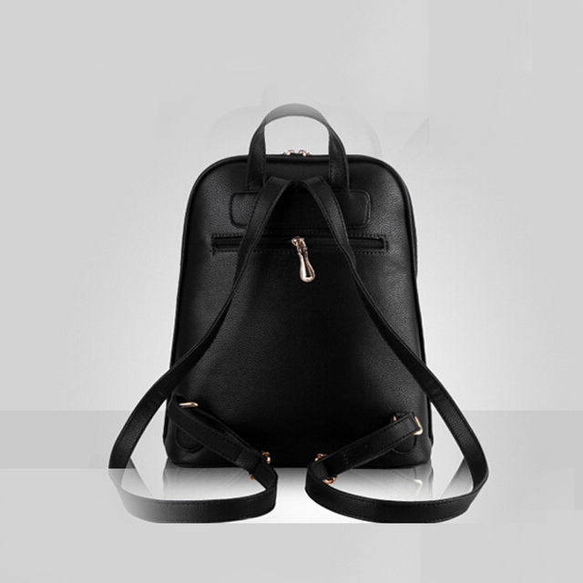New 2017 High Quality Women Backpacks Famous Brands Fashion Lady Leather Backpack School Backpacks For Teenage Girls C0087