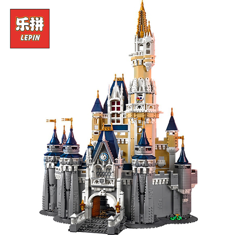 Lepin 16008 Girl Figure Cinderella Princess Castle City set Compatible legoING 71040 Model Building Block DIY Toy Birthday Gift