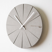 New design concrete wall clock silicone moulds DIY home craft molds silicone cement round plate molds