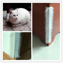 Pet Cat Grooming Safe Self Brush for Wall Corner Free Hand Cats Massage Comb