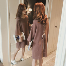New spring dress sweater skirt for pregnant women with long loose back straps lovely fashionable wome
