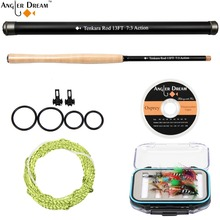 Wholesale prices 13 FT Tenkara Fly Rod Combo Telescoping Fishing Pole Carbon Fiber Fly Fishing Rod With Furled Leader Flouorocabon Tippet