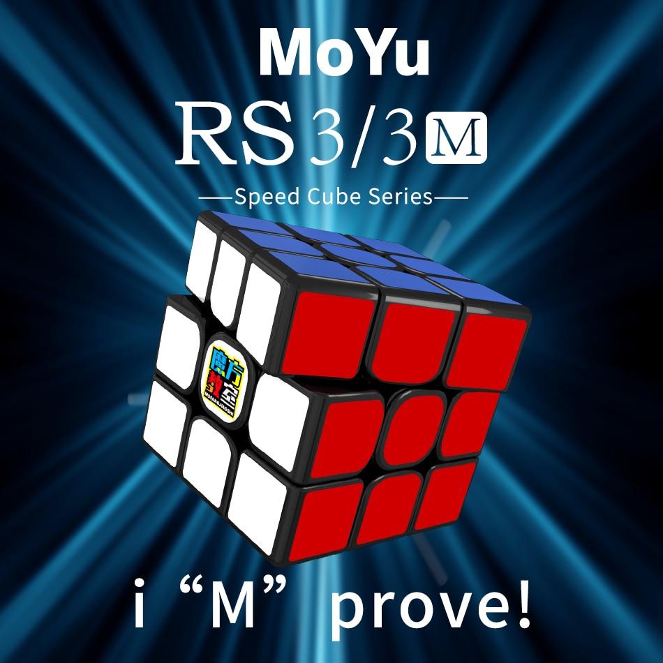 Moyu MF3RS3M 3x3x3 Magnetic Magic Cube MF3RS3 Magnetic Version Magic Cube Cube Classroom MF3RS 3M Cube