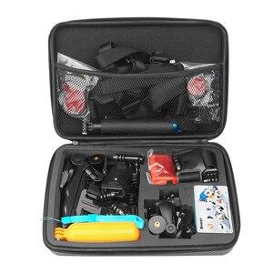 Image 5 - SHOOT Large Portable PU Waterproof Carrying Case for GoPro Hero 9 8 7 5 SJCAM Xiaomi Yi 4k Eken h9 Camera Box Go Pro 8 Accessory