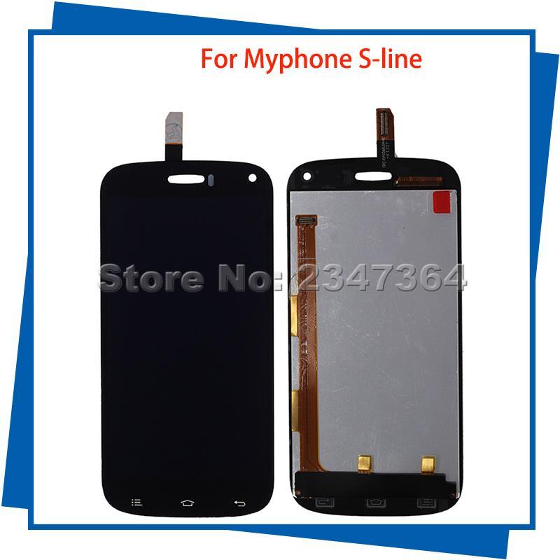 Para MyPhone s-line 100% Probado Pantalla LCD Táctil de Color Negro Teléfono Móv