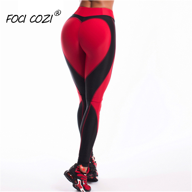 Red Butt Lifting Leggings Fitness Feminia Gym Clothing Sexy Leggings For Women Black And White Leggings Sport Femme Workout