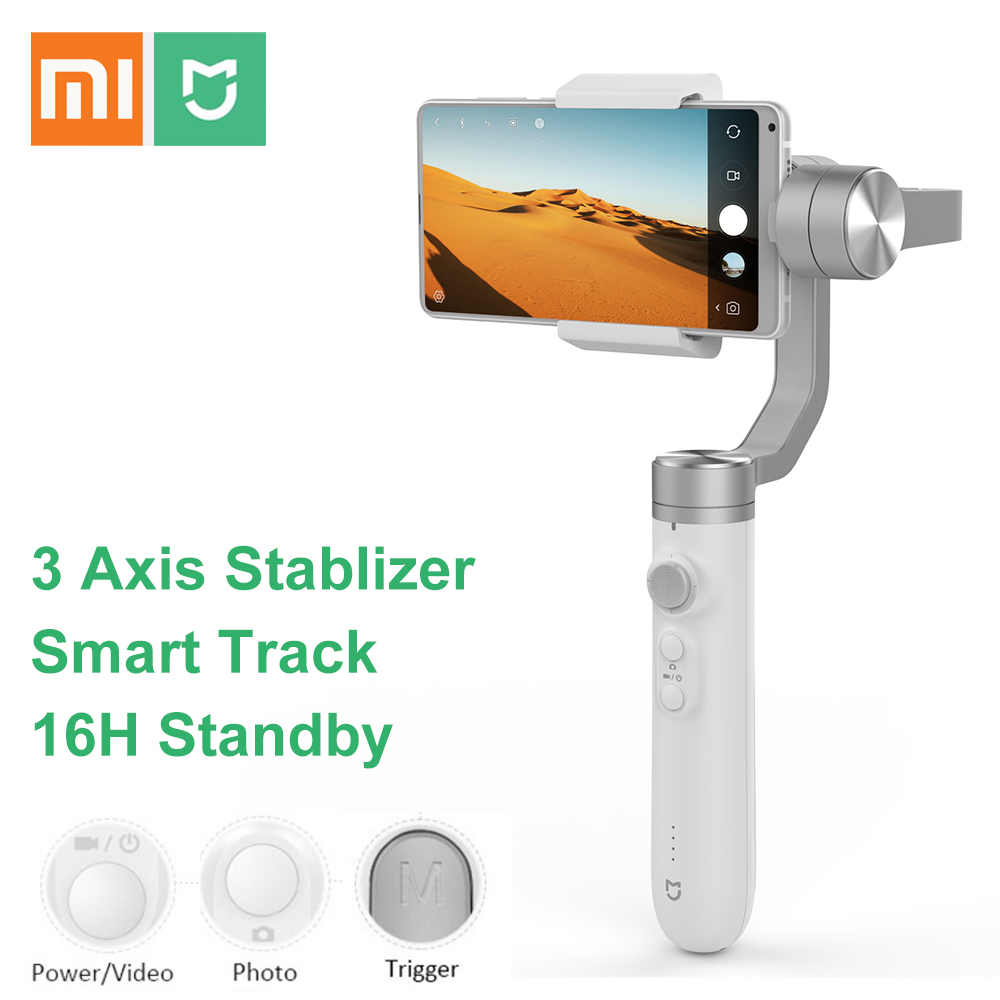 Xiaomi Mijia SJYT01FM stabilisateur de cardan Portable 3 axes avec batterie 5000 mAh pour caméra d'action et téléphone