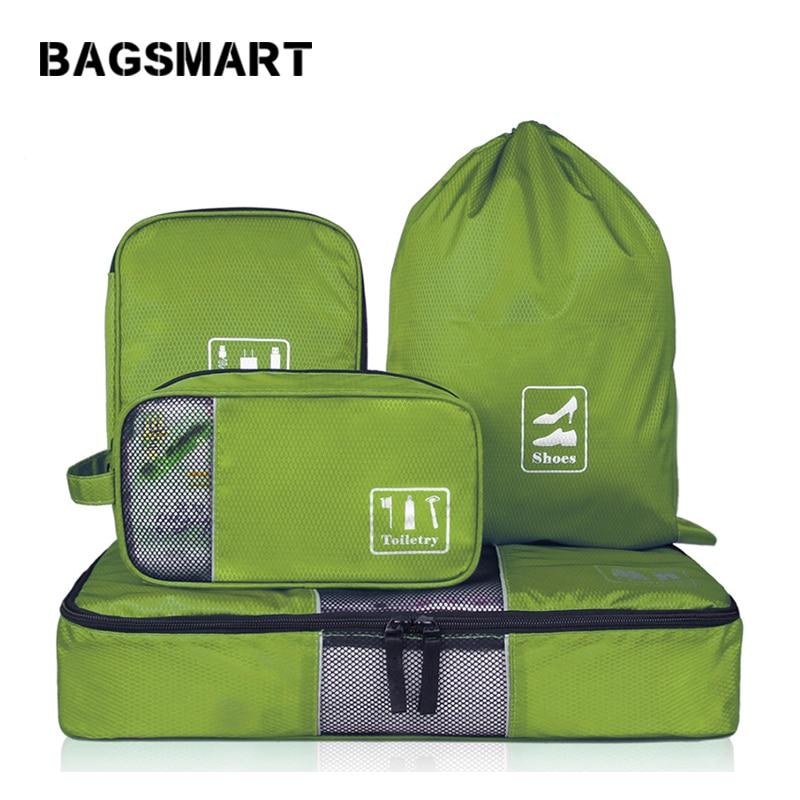 BAGSMART 4 шт. / Компл. Модные дорожные сумки Портативные многофункциональные дорожные сумки для одежды Макияж