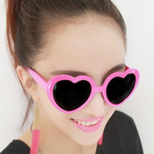 LOVINGFANG Fashion Heart Sonnenbrille UV400 Süße Sonnenbrille für - Bekleidungszubehör