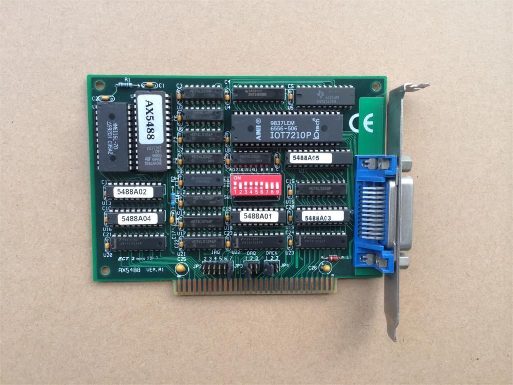para Taiwan Eixo Ver: Placa Equipamento Industrial Cartão Gpib Ver. a2 Isa Interface Ax5488 1