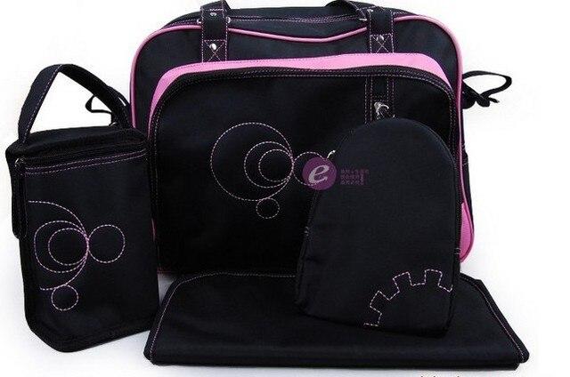 EMS free shipping 10sets/ Lot Multi Function Baby Diaper Bag Mummy Mama Nappy  Handbag 2 colors choose