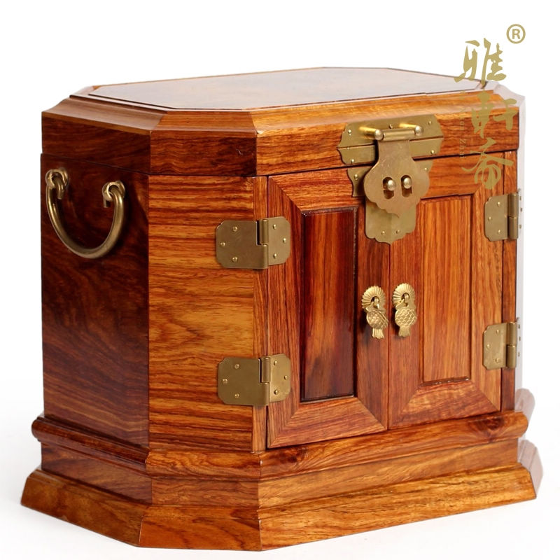 Rosewood rosewood antique wooden jewelry box dressing box ...