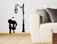 Wall Decals Kissing Couple Decal Vinyl Sticker Love Home Decor Bedroom