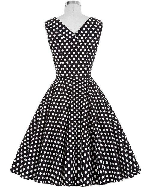 Women Summer Dress vestidos 2016 Plus size Casual Party Floral Tunic Elegant robe Rockabilly Swing 50s Vintage Polka Dot Dresses