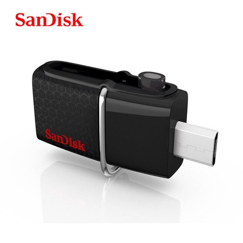 SanDisk Original USB 30 Flash Disk OTG USB Flash Drive Pendrive Usb Stick Mini Pen Drives 16gb 32gb 64gb 128gb High speed SDDD2