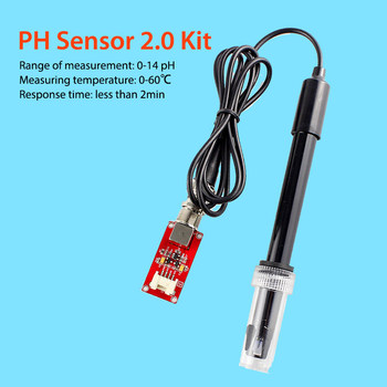 Elecrow Electronic DIY Kit Crowtail PH Sensor 2.0 Kit Used to Test PH Value of the Aqueous Solution for Environmental Monitoring ph value detection acquisition sensor module liquid ph value detection kit