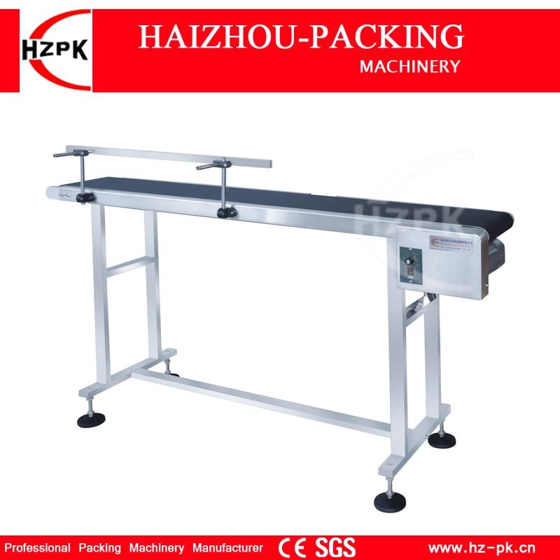 Linha de produção vertical l1.5m da correia do portador da faixa do uso do transporte da impressora a jato de tinta de hzpk