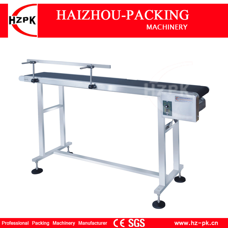 HZPK Conveyor For Inkjet Printer Use Vertical Band Carrier Machine Belt Conveyor For Bottles/Bag Food Products Production Line lx pack lowest factory price band carrier belt conveyor for bottles food products customized moving belt rotating table stand